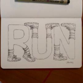 "Inktober day 11 ""Run"