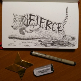 "Inktober day 14 ""Fierce"
