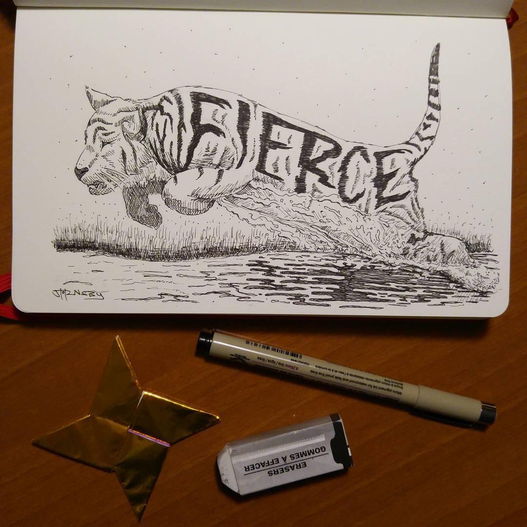 "Inktober day 14 ""Fierce"