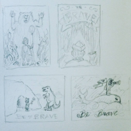Some quick rough storyboard style thumbnail sketches