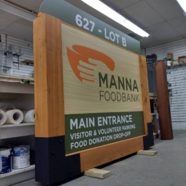 Main Manna Sign in Progress