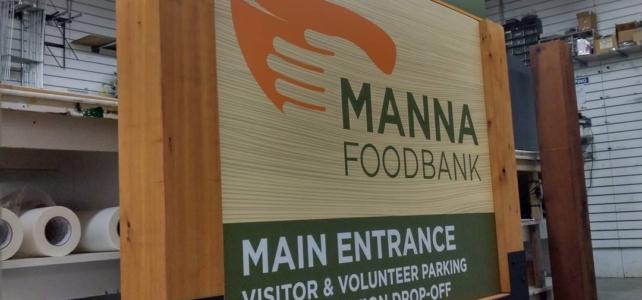 Main Manna Sign in Progress