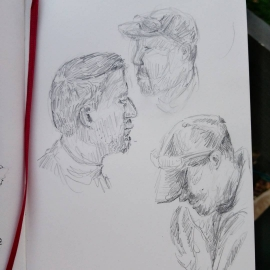 Rode the bus today. Sketched some people who also rode the bus