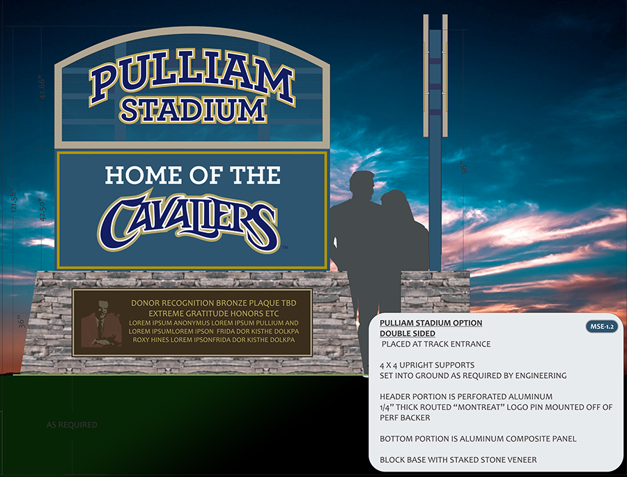 services stadium monument sign