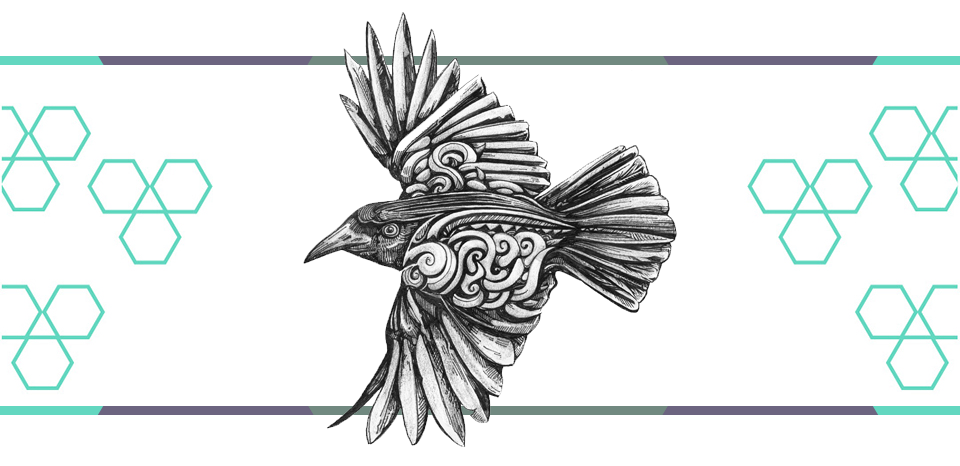 crow tattoo graphic