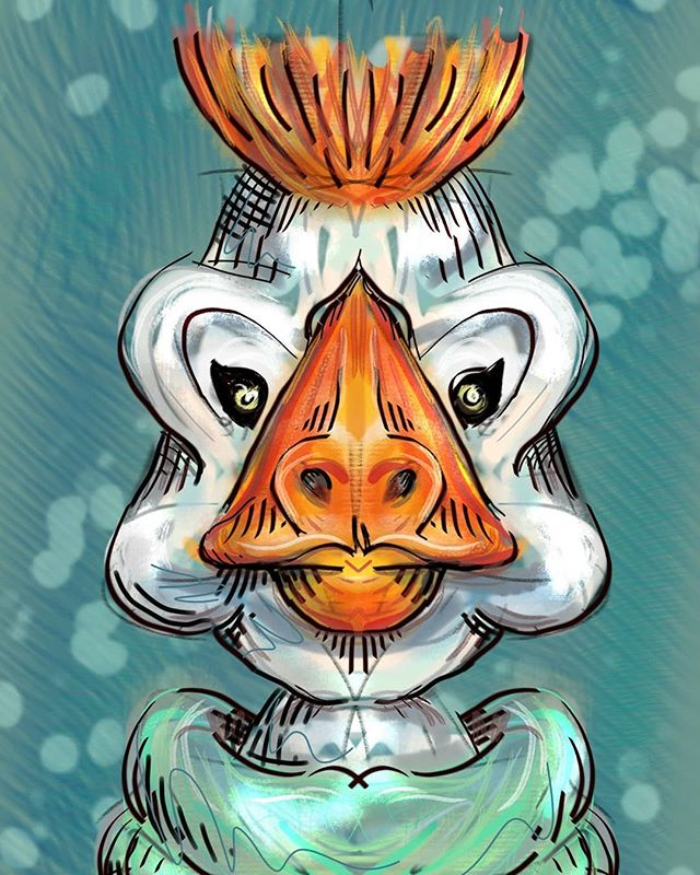 Sitting in the dealership waiting for car service. So I drew a duck on my phone