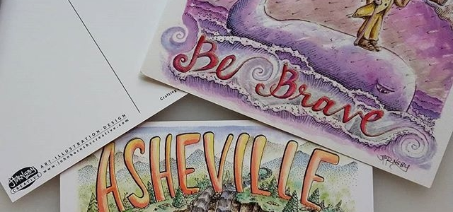 Asheville Illustration Art Postcards