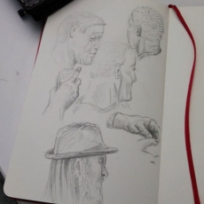Sketches from the bus