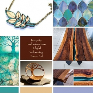 Sneak peek of a mood board for a current branding project.I put a lot of preliminary work into each logo design including digging in deep with the client to explore both their values and those of their ideal client. Then I research the competition, history, folklore and color psychology building a common thread of visual iconography to provide the framework from which to design.The discovery and research process is as every bit as rewarding for me as the actual creative graphic design. And it helps ensure a final result that doesn't just look good. It works