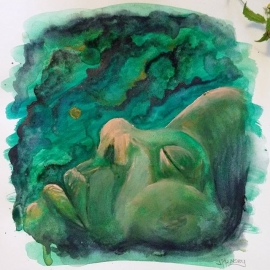 Watercolor Sleep Painting