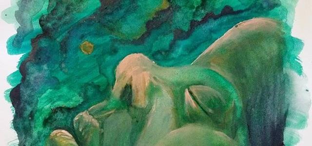 Watercolor Sleep Painting