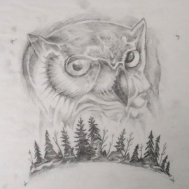 Tattoo design work in progress… It's a hoot