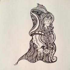 Mystical Lady Doodle