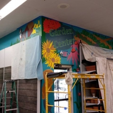 Working with team GIGANTIC! this week on this new mural for Ace Hardware