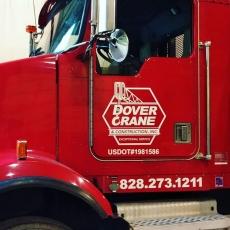 Dover Crane & Construction Logo getting phased into fleet