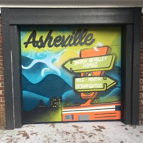 A little street art mural I helped design for @giganticavl with applied aerosol skills by @speech_impediment
