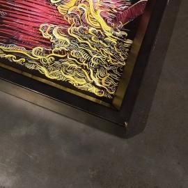 Custom art commission framing