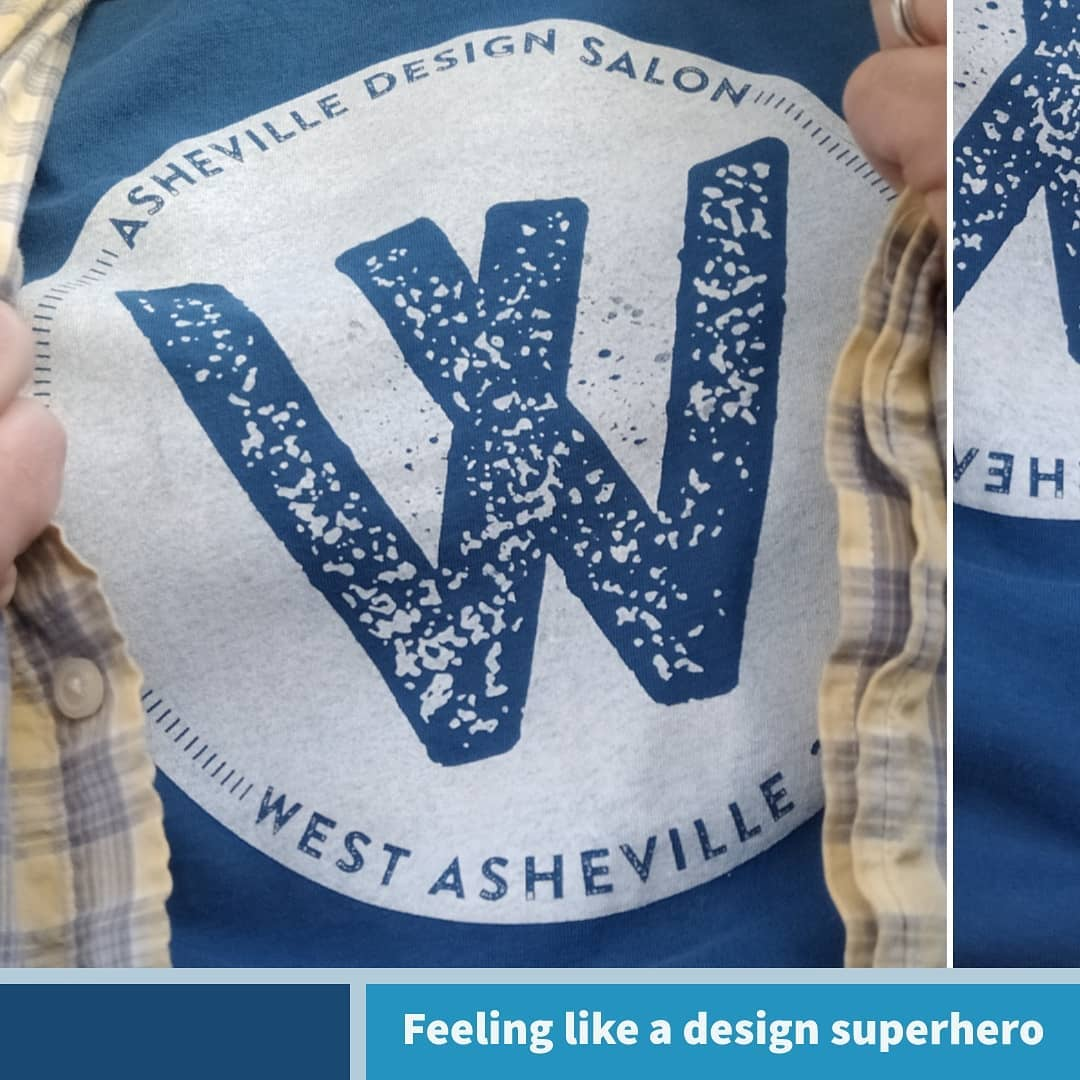 Rocking this shirt from last night's @avl_designsalon with the @aigaasheville crew. Sweet screenprint swipes by @brentbaldwin of @image420screenprinting. Part of the dope design for the event by @marcosharkness. So in love with vibrant creative community in this town