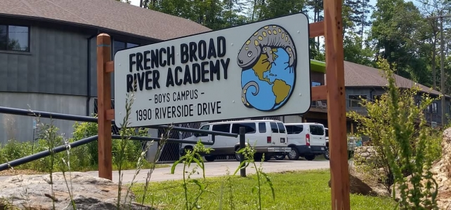 French Broad River Academy Sign
