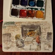 Beltane fire sketch