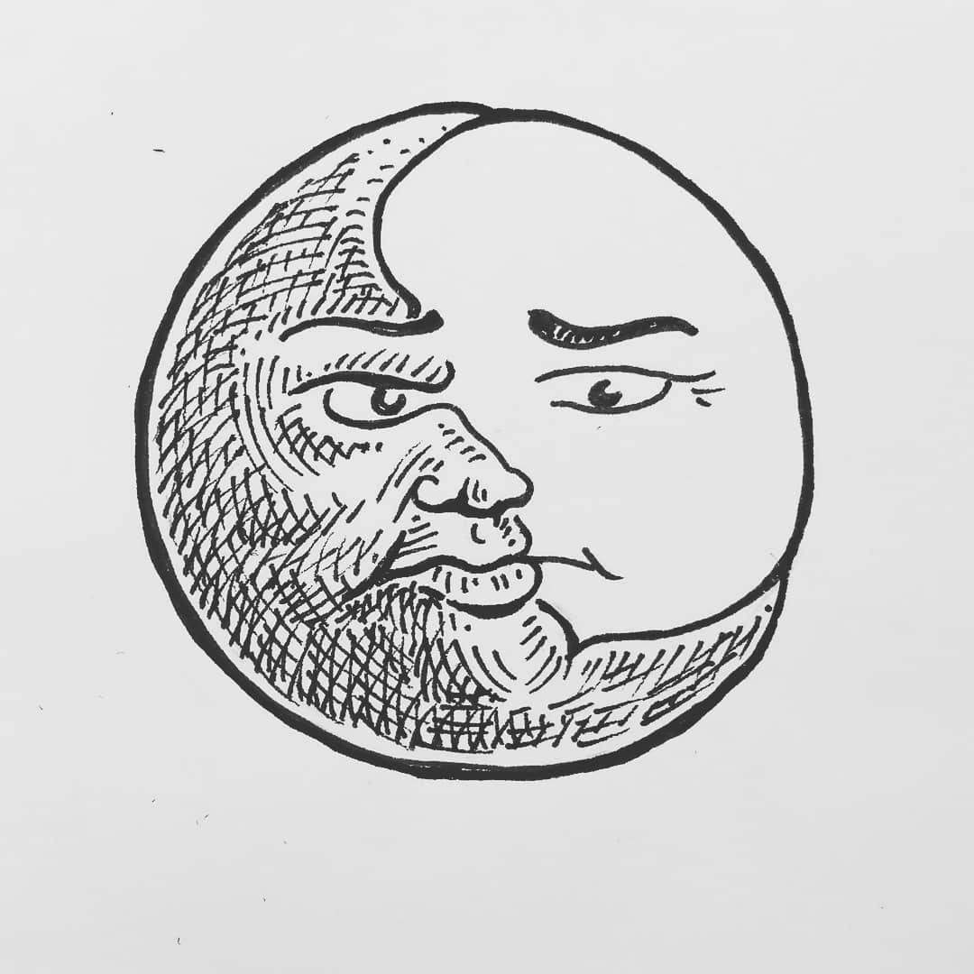 Sun / moon sketching