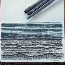 Seaside sketching