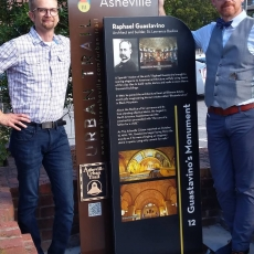 Asheville's Urban Trail Interpretive Sign