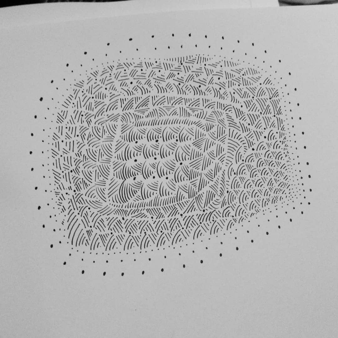 Sketch a day 4/30  Lines and dots and dots and lines