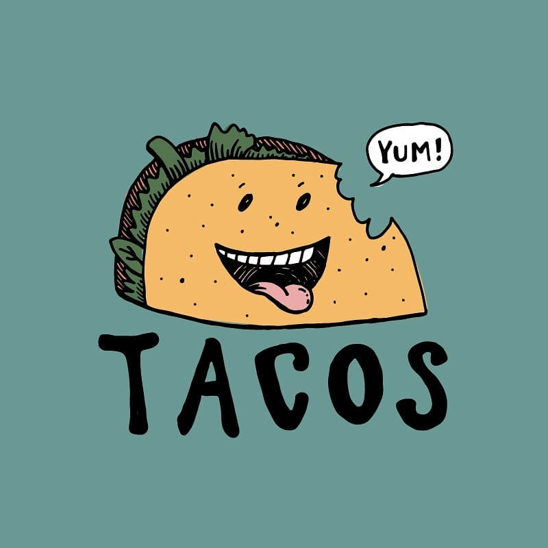 This week as part of art class, my 7 year old daughter and I designed a logo for tacos together. 🌮. I wanted to show her how to develop an idea from a little rough scribble to something finished through iteration. 📝. So we started with a little post it sketch then I had her draw a big version of the taco and lettering. I had her do a second version of the lettering, putting down some guidelines first. 🔤. Then I broke out the tracing paper and used her taco and letters as the guide to draw something a little more polished. We talked about characterizing it by giving it a face. She wanted to add the speech bubble. 🎨. Then I showed her how to scan that in and use illustrator to vectorize it and add color layers. 🌈. Here is the finished version with my color pallet choices. She didn't finish hers yet. 🤷‍♂️. We learned alot and had fun in the process. 👉 Swipe right for process pics