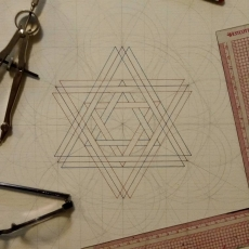 Building out another geometric design.