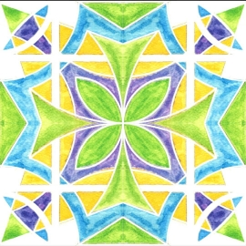 Here's a watercolor tile pattern I completed recently.