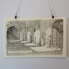 Spain Sketch Print: Saint Isadora's Basilica