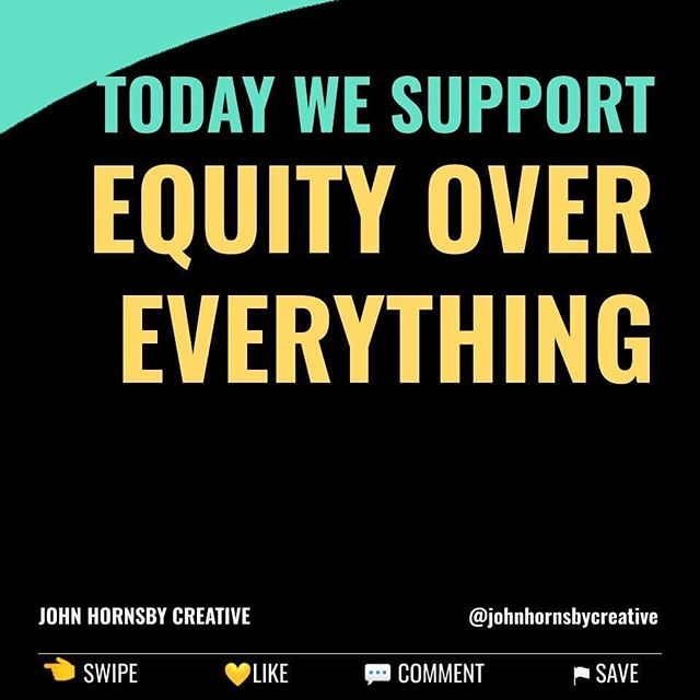Once a week we'll highlight a specific social justice action and invite you to join us.  This weeks anti racism action item is supporting Equity Over Everything. @equityovereverything  Equity Over Everything's mission is to advance equity by closing the gaps in social equity, entrepreneurship and home ownership within low resource communities across the south.  They offer education and experiences that increase resources and help communities thrive. Each program is sustainable through its social enterprise component.  You can order one of their Tshirts, hoodies, mugs or straight up donate.  Link in bio 👆  https://aishaadamsmedia.com/equity-over-everything-racism